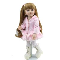 ball mini sd - Super Realistic Long Hair Girl Simulation Doll inch CM SD BJD Ball Jointed Dolls Reborn Girls Alive Baby Bonecas Bebes