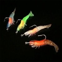 Wholesale 10pcs mm g Shrimp with Fishing Hook Fishing Lure Hooks Lures Soft Bait Artificial Pesca Fishing Tackle