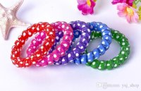 Wholesale Hair bands Hair band elastic elastic hair headwear Polka dot printed bracelet Free DHL
