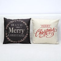 Wholesale Hot Christmas Decorations for Home Vintage Christmas Letter Sofa Bed Pillow case Decoration Navidad JF
