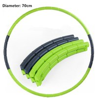 Wholesale cm hula hoop easy to carry removable hula hoop lose weight can add weight fitness hula hoop Women and Children s hula hoop