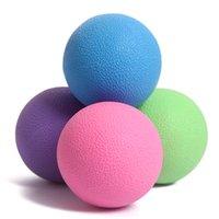 Wholesale mm TPE Hockey Lacrosse Ball Fitness Fascia Ball fitball Trigger Point Relaxation Self Massage palline per massaggio