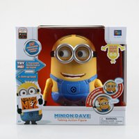 Wholesale Despicable me Minions Dave speaker moving toy with original voice PVC Action Figure