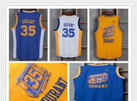 Wholesale Factory Direct Selling Kevin Durant Jersey Men Throwback Kevin Durant Shirt Uniform Chinese Christmas Retro Blue White Yellow Black