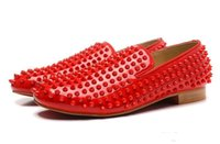 red sole shoes - mens red genuine leather red sole loafers designer red spiked wedding dress shoes fashion men oxfords