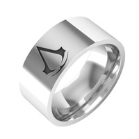 Wholesale New Arrival Assassins Creed Master Ring Anime Assassins Creed Stainless Steel Brand Ring For Men And Women Party Gift
