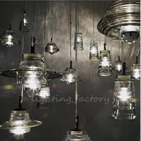 abc press - Tom Dixon Pressed Glass Pendant Lamp Light Bowl lens tube ABC modern Ceiling lamp suspension lighting chandeliers