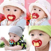 baby pranks - 2016 Silicone Baby Pacifier Funny Nipples Dummy Baby Soother Joke Prank Toddler Pacy Orthodontic Teat Teether pc