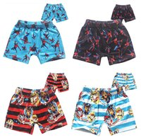 beach for dogs - 2016 Dog Paw Boys Swimming Trunks Cartoon Spiderman Kids Beach Trunks Kids Summer Swimming Wear For T Kids Clothes