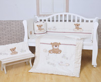 baby cot size - Cotton Baby Cot Bedding Set Newborn Crib Bedding Detachable Quilt Pillow Bumpers Sheet Cot Bed Linen Size