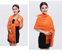 fashion ponchos for - Nice woven cashmere brushed scarf shawl stole warm SCARF for daily use as gift x mas scarf keep warm for party orange scarf