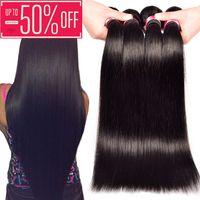 Wholesale 7A Unprocessed Straight Virgin Hair Bundle Deals Remy Human Hair Extensions Brazilian Indian Straight Hair Human Hair Weave