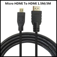 Laptop 3d converter - 100pcs Top Quality M M V1 Male to Male HDMI to Micro HDMI Cable M M Converter Cord For HDTV PS3 XBOX D LCD