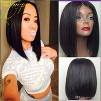 Wholesale Short Bob Wig Glueless Full Lace Human Hair Wigs Straight Bob Lace Front Wig Brazilian Human Hair U Part Wigs