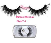 Wholesale Y Mink eyelashes luxurious Real Mink Long Cross False eyelash Daily fake eye lashes