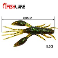Wholesale Afishlure AR top quality soft shrimp with big claws mm g artificial lure plastic soft bait