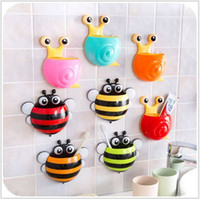 bee toothbrush holder - Cute Cartoon Animal Multicolor Bee and Snail x15 CM Sucker Toothbrush Holders Suction Hooks Bathroom Set Accessories Eco Friendly
