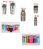 Wholesale Colorful Yeti Cup oz Rambler Tumbler Bilayer Stainless Steel Insulation Cups Cars Beer Mug Large Capacity Tumblerful colors