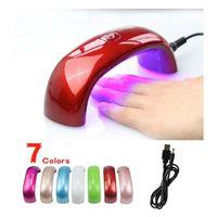 Wholesale Small Package w Cute Nail Art Gel Polish Lamp Led UV Light Dryer Nail Finger Dry Mini LED Nail Lamp Hot Nail Dryer