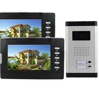 Wholesale 1 Camera w Monitors quot Color LCD Video Door Phone Wired Intercom Doorbell IR Camera Monitor F4376A