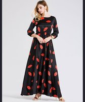 america on line - Vestidos Real Empire Satin Pleated Full Vestido Dress New Original Single In Europe And America Put On A Large Print Dress
