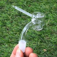 quartz crystal - 100 Real Quartz High quality domeless quartz banger nail quartz carb cap mm mm male female joint quartz honey bucket