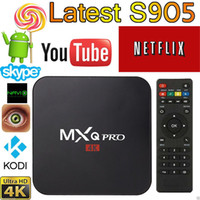 Wholesale MXQ Pro Android TV Box Amlogic S905 Chipset Kodi Full Loaded Android Lollipop OS Quad Core G G K Google Streaming Media Players