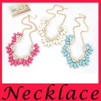 accessories colored diamond - European And American Fashion Metal Diamond Accessories Simple Candy Colored Wild Necklace Special