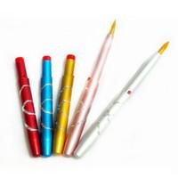 Wholesale Portable Mini Metal Cosmetic Retractable Lip Brush Multi Color Beauty Tool For Women Hot Sale