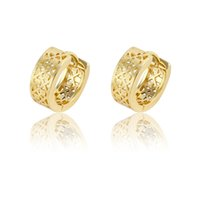 american environmental - American Style K Gold Plated Copper Huggie Hollow Design Earrings For Women Low Price Xuping Environmental Copper Jewelry Earhoops