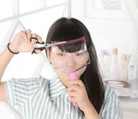 Precio de Inicio peinado del cabello-Bricolaje Bangs cortar el apoyo del hogar uso pelo recorte peine Styler mujeres Lady Kit de maquillaje frontal recortadora franja de almacenamiento de caja de salón de estilo kit de herramientas