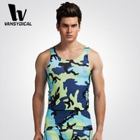 Wholesale Men gym sleeveless t shirt outdoor sports camouflage tights fitness bodybuilding compression tank top Jerseys running vest BX001