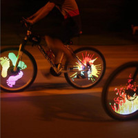 Wholesale Wheel Lights DIY Bicycle Spoke Bike Tire Wheel light programmable LED double sided screen display image night cycling ride Color Changing