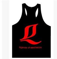 aesthetics training - 2016 Legends of Aesthetics Brand Golds Gym Men Stringer Bodybuilding Vest Professional Training Fitness Loose Tank Top