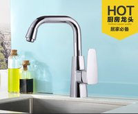 Wholesale 2016 Cheapest poilshed chrome kitchen faucets with finishing kitchen sink facuet of solid brass kitchen tap