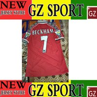 beckham jersey number - 1998 BECKHAM retro jersey customize flocking number and patch