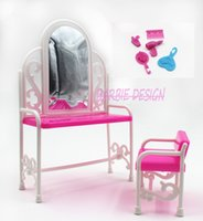 baby doll dresser - Princess Doll ashion furniture dresser girls birthday gift toilet table For barbie doll accessoriesb Baby Toys WY
