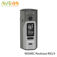 battery gold - Original Wismec Reuleaux RX2 box mod kits w rx23 rx2 TC vape mods fit cells or cells with rx23 battery cover VS RX200S RX200