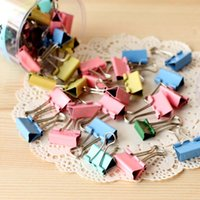 Wholesale 120pcs mm Colorful Metal Binder Clips Paper Clip Office Stationery Binding Supplies