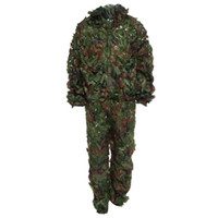Wholesale Colors D Bionic Leaf Camouflage Jungle Hunting Ghillie Suit Set Woodland Birdwatching Poncho Breathable Hunting Clothes