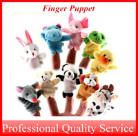 Wholesale Plush Toy Finger Puppet for Baby to years old Stuffed Toy Talking Animals Made by PP Cotton TOY002