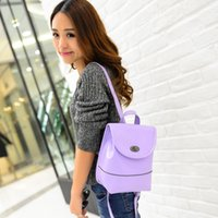 academy bags - Korean Spring New Handbag Academy Candy Color Small Fresh Bag Lady shoulders Leather Backpack