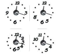 Wholesale 24pcs D Adhesive Mirror Surface Sticker DIY Modern Design Wall Clock Home Decor Silent Quartz Clock Movement Mechanism Hand Colors