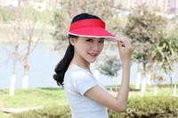 Wholesale Adjustable Visors Women summer sun hats Beach hat Sunscreen caps multiple Colour Mixed delivery