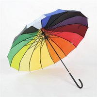 Wholesale DHL New Hot Sale Creative Design Black And White Colorful Striped Golf Umbrella Long handled Straight Pagoda Umbrella jy663