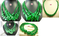 Wholesale Different Style Natural Green Jade Beads Necklace