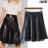 Wholesale fashion Fringed Leather Skirt Package Buttocks Tight Skirt winter dress