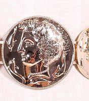 baroque portrait - New Fashion Vintage Baroque Metal Head portrait Belts Women s Gold Coins Leather Waist Straps Casual Cummerbund