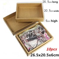 advance clothing - 26 x20 x6cm Advanced yellow cattle card kraft paper box heaven and earth covered boxes of clothing moon cake box