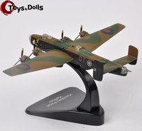 air bus models - Collectible Atlas WW2 British Royal Air Force Handley Page Halifax DTG Model Fighter Diecast Airplane Model Kids Toys